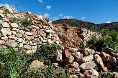 Mur éboulé