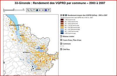 Rendement Gironde